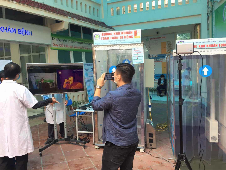 Camera đo thân nhiệt triển khai tại bệnh viện