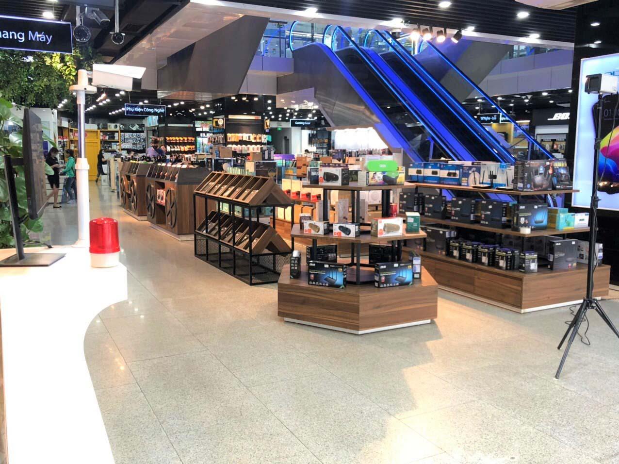 Camera đo thân nhiệt được lắp đặt tại trung tâm thương mại